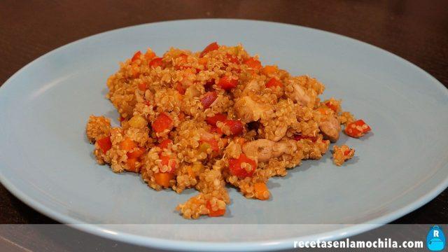 Quinoa con pollo y verduras